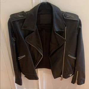 All saints leather jacket - real leather